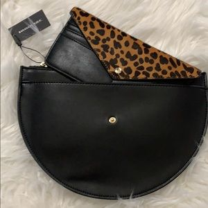 Banana Republic leather clutch w removable wallet